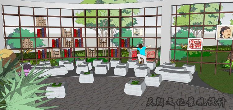 天朗校园文化图书室