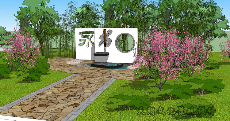 徐州绿地小学校园景观效果图